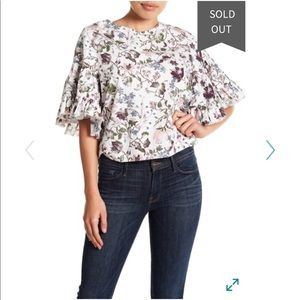 NEW • Melrose & Market • Floral Ruffle Blouse Smal